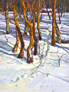 Winter Trail by Jim Wodark Oil ~ 16 x 12