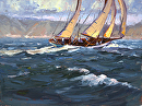 Sailing Day by Jim Wodark Oil ~ 12 x 16