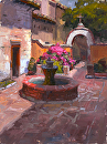 Inner Courtyard by Jim Wodark Oil ~ 16 x 12