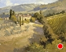 Tuscan Villa by Jim Wodark Oil ~ 8 x 10