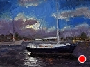 Blue Moon Balboa by Jim Wodark Oil ~ 12 x 16
