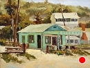 Crystal Cove Shack by Jim Wodark Oil ~ 12 x 16
