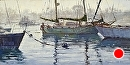 Misty Morning Tug by Jim Wodark Oil ~ 12 x 24