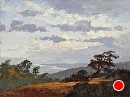 Torrey Pines Clouds by Jim Wodark Oil ~ 12 x 16