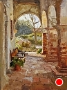 Mission Arch by Jim Wodark Oil ~ 16 x 12