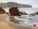 El Moro Beach by Jim Wodark Oil ~ 12 x 16