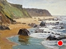 Crystal Cove Beach by Jim Wodark Oil ~ 12 x 16