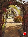Rose Garden Path by Jim Wodark Oil ~ 16 x 12