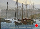 Newport Morning by Jim Wodark Oil ~ 30 x 40