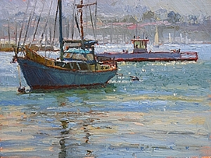 Harbor Crossing by Jim Wodark Oil ~ 12 x 16