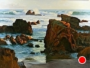 Sunset Surf by Jim Wodark Oil ~ 36 x 48