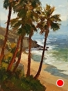 Palm Peekaboo by Jim Wodark Oil ~ 16 x 12