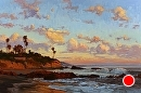Tropical Laguna by Jim Wodark Oil ~ 24 x 36