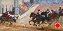 """Il Palio"" Siena, Italy by Jim Wodark Oil ~ 12 x 24"