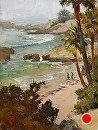 Down to the Beach by Jim Wodark Oil ~ 16 x 12
