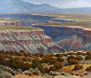 Canyon Rim Trail by Jim Wodark Oil ~ 6 feet x 7 feet