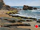 Beach Rocks by Jim Wodark Oil ~ 12 x 16
