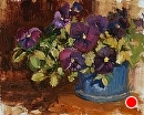 Purple Pansies by Jim Wodark Oil ~ 8 x 10