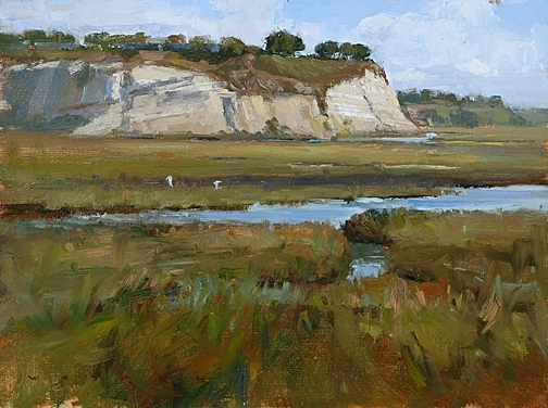 I Have No Egrets by Jim Wodark Oil ~ 12 x 16