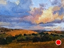 Golden Clouds by Jim Wodark Oil ~ 9 x 12