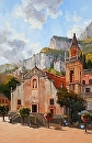 Taormina Church by Jim Wodark Oil ~ 40 x 26