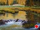 Breakfast with Beaver by Jim Wodark Oil ~ 12 x 16