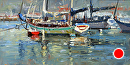 Harbor Parking by Jim Wodark Oil ~ 6 x 12