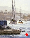 Newport Harbor by Jim Wodark Oil ~ 20 x 16