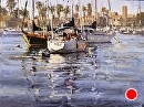 Balboa Public Pier by Jim Wodark Oil ~ 18 x 24