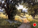 Twin Oaks Path by Jim Wodark Oil ~ 12 x 16