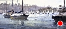 Regatta Morning by Jim Wodark Oil ~ 10 x 20