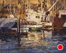 Morro Bay Fishing Boats by Jim Wodark Oil ~ 16 x 20