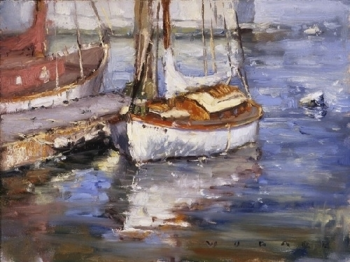 Balboa Schooner by Jim Wodark Oil ~ 12 x 16