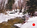 Winter Stream by Jim Wodark Oil ~ 12 x 16
