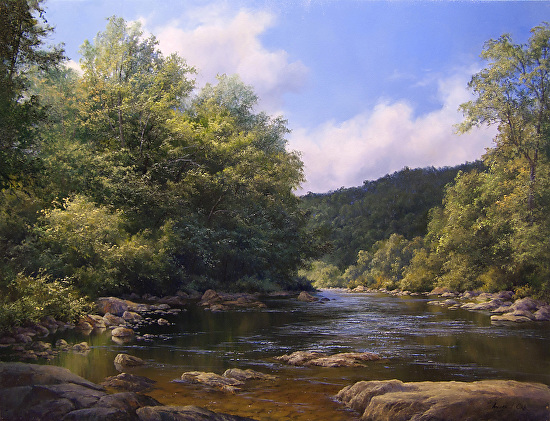 Sumer on the River - Oil