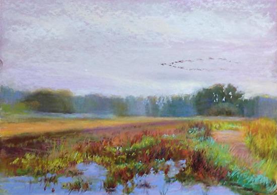 Quiet Morning - Pastel