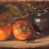 Pewter With Persimmons