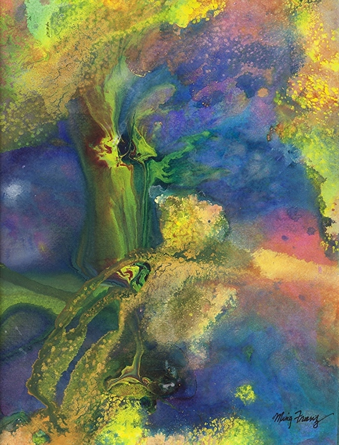 Orchids by Ming Franz Abstract Splash Color ~ 16 x 12