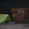 Lime Wedge and Handmade Bowl
