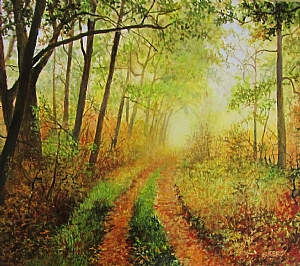 "Amazing Morning by Bobbie Berg Acrylic ~ 8 1/4"" x 7 1/4"""
