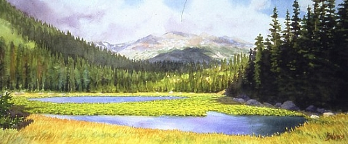 Cub Lake - Watercolor