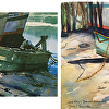 "Jerily DeWorken's interpretation of John Pike's ""Beached Derelicts"""
