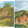 "Jill Vondervor-Frank's interpretation of Camille Pissarro's ""Hermitage At Pontoise"""
