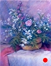 "Basket of Flowers by marie walker Pastel ~ 32"" x 28"""