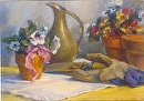 "Garden Gloves by marie walker Pastel ~ 21"" x 27"""