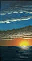 """Outer Banks Sunset by Pat Quinn Oil ~ 48"""" x 24"""""""