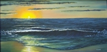 "Outer Banks Sunrise by Pat Quinn Oil ~ 24"" x 48"""