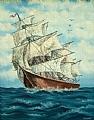 Clipper Ship by Pat Quinn Oil ~ 28 x 22