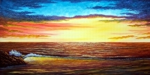 "Golden Sunset by Pat Quinn Oil ~ 24"" x 48"""