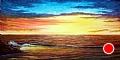 """Golden Sunset by Pat Quinn Oil ~ 24"""" x 48"""""""